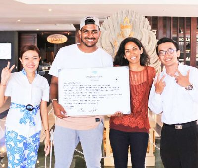 watermark hotel with guests