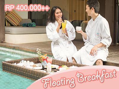 Floating Breakfast Watermark hotel Bali